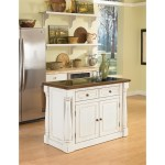 Home Styles Monarch Antiqued White Kitchen Island Two